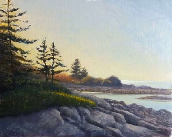 Drift Inn Beach, Port Clyde, Maine. Oil Painting by Daniel Ambrose
