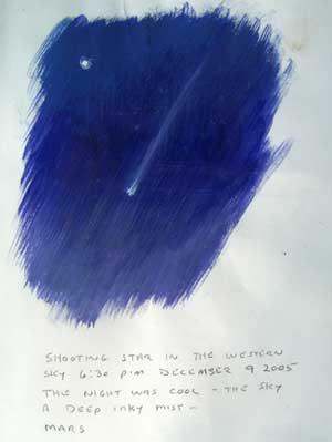 Daniel Ambrose, sketch of a shooting star