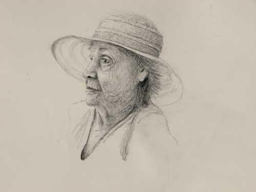 Daniel Ambrose, sketch of Grandma Dewey