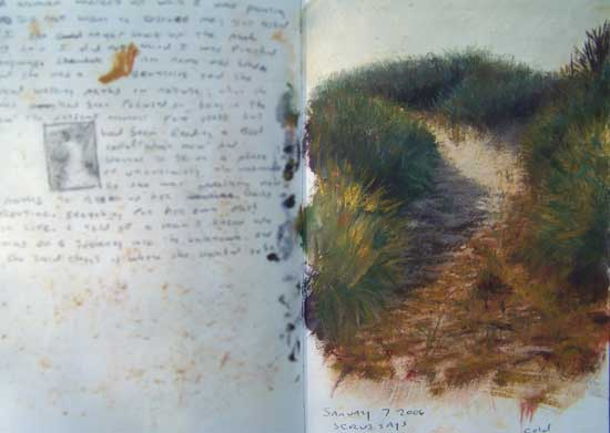 Daniel Ambrose Sketchbook, Dune Path