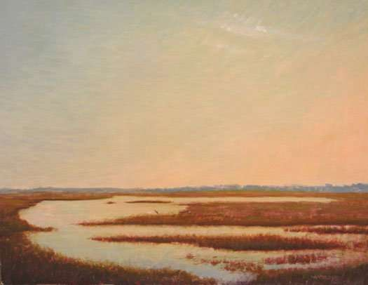 The Beauty of Silence, egg tempera painting by Daniel Ambrose