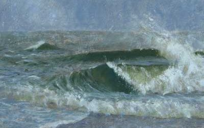 Oil Painting Studies of Wave Forms