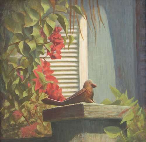 Sittin' in the Sun, egg tempera painting by Daniel Ambrose