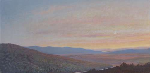 Miles to Go, egg tempera painting by Daniel Ambrose