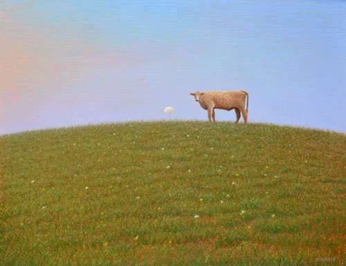 Hey Diddle, Diddle. Egg tempera painting, Daniel Ambrose