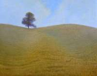 North of the 35th Parallel, egg tempera painting by Daniel Ambrose