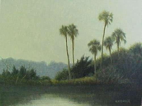Six Palms, egg tempera painting 1999