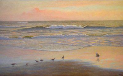 Major New Oil Painting: Aquablue