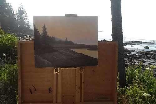 Drift Inn Sunrise, plein painting by Daniel Ambrose