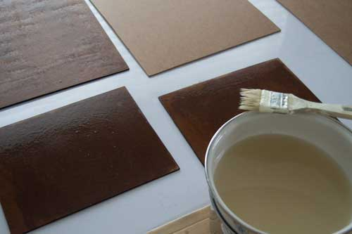 Panels coated with glue size for painting in egg tempera.