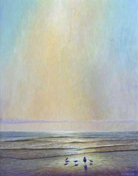 Egg tempera painting, Gathered in the Light