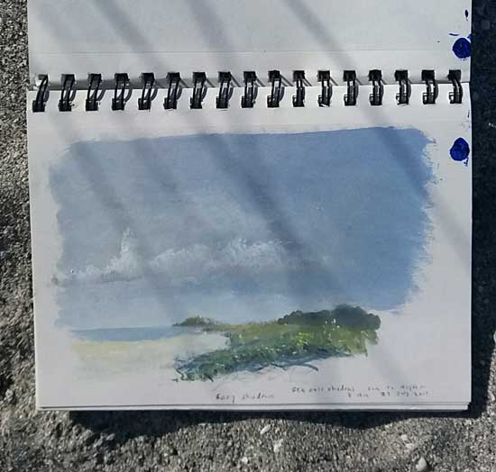 Painting the Sound of a Seaside Morning