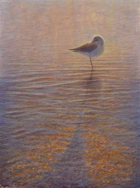To Sleep, To Dream VII, egg tempera painting of sleep bird by Daniel Ambrose