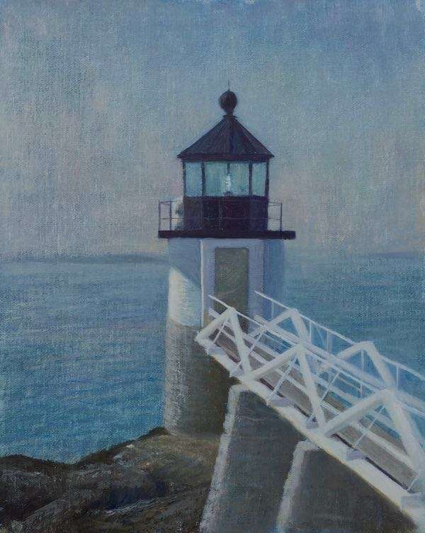 Oil painting of Marshall Point Lighthouse by Daniel Ambrose