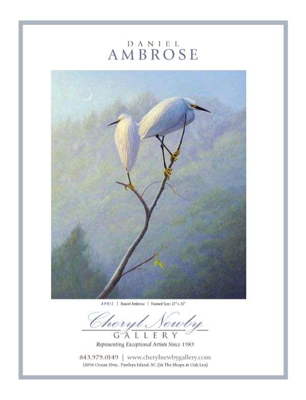 American Art Collector magazine featuirng artist Daniel Ambrose in Cheryl Newby Gallery ad.