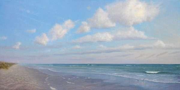 A Summer Conversation, seascape oil painting by Daniel Ambrose