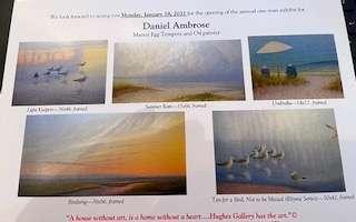 Hughes Gallery Postcard of Daniel Ambrose artworks